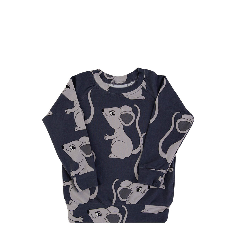 mouse navy ls - t-shirt