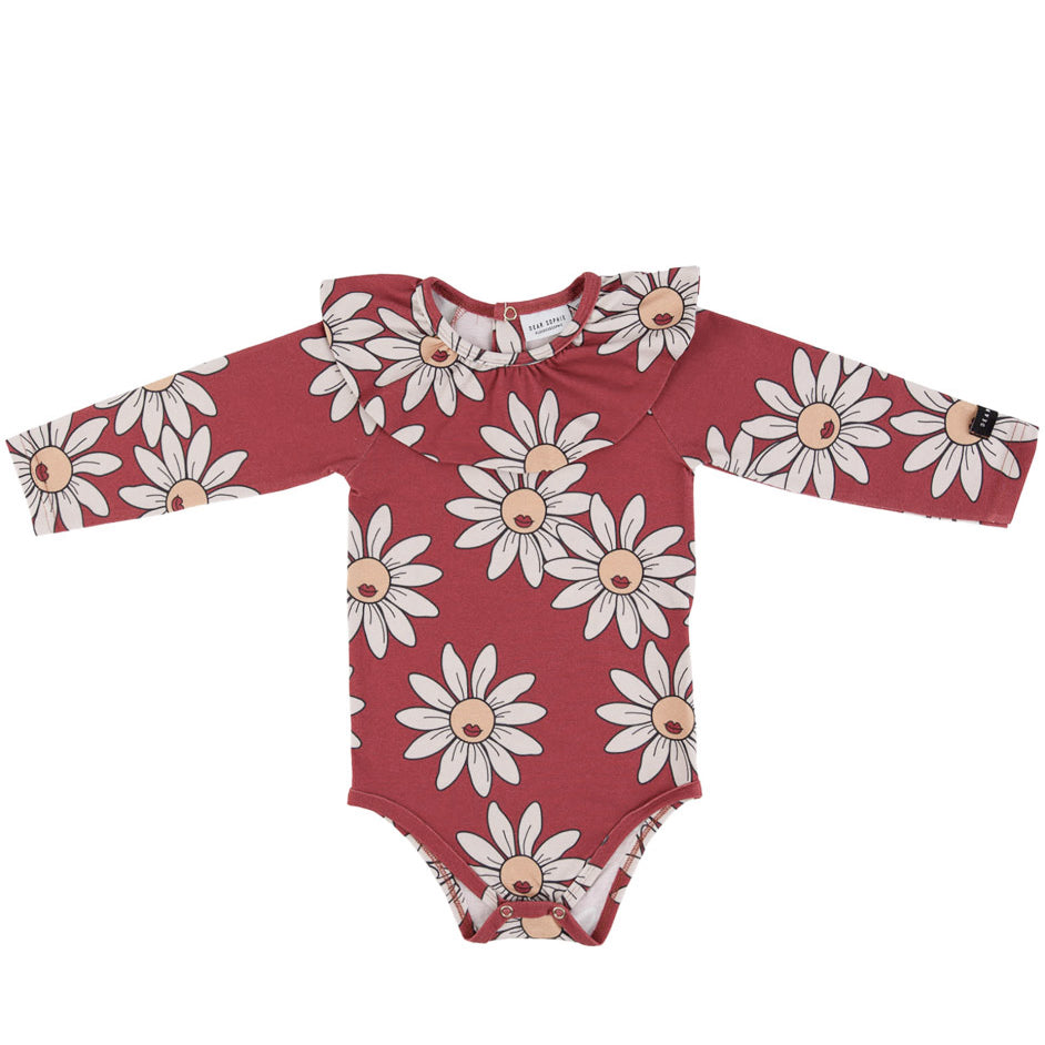red daisy frilled - body