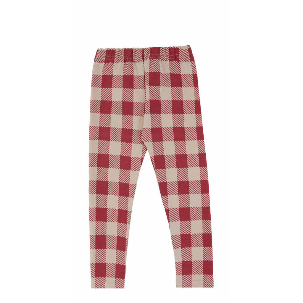 maroon checker - legging