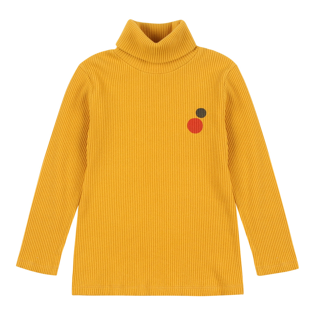 yellow corduroy turtleneck - t-shirt
