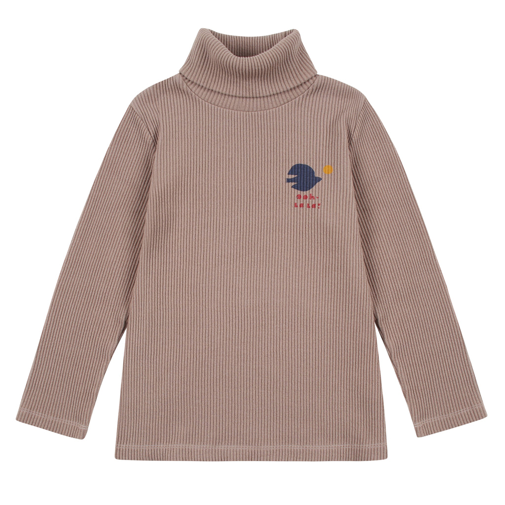 beige corduroy turtleneck - t-shirt