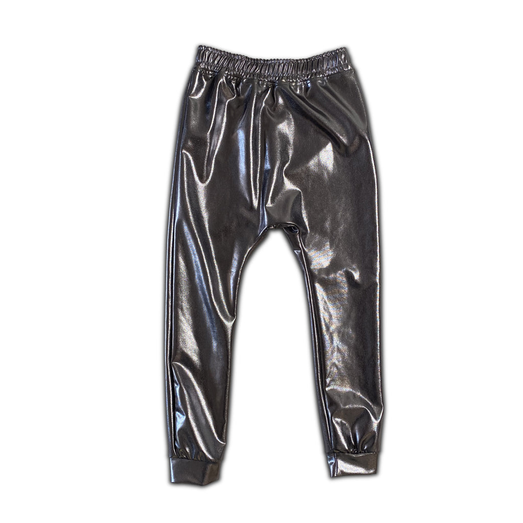 silver metallic  - legging