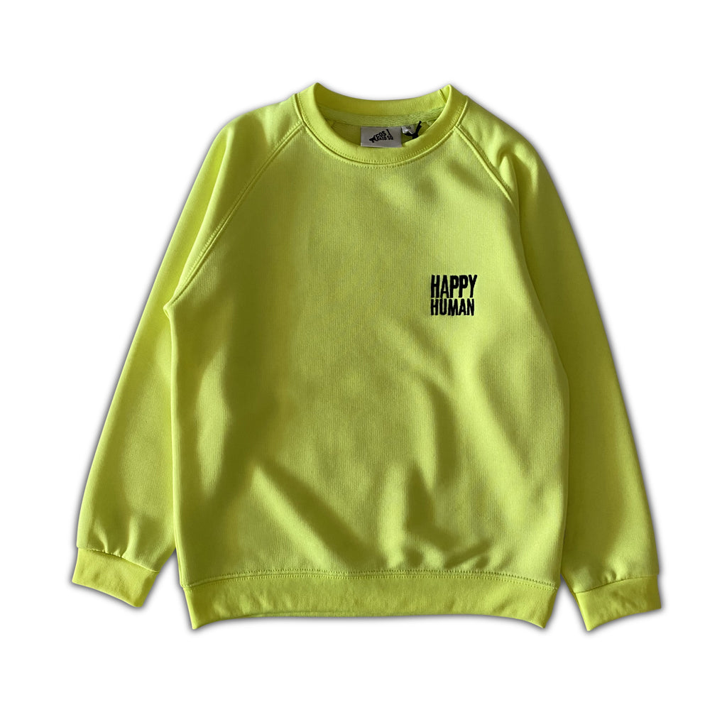 neon happy human - sweater