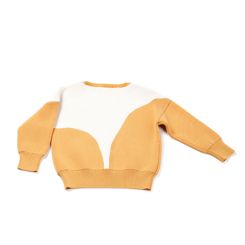yellow parabola - knit