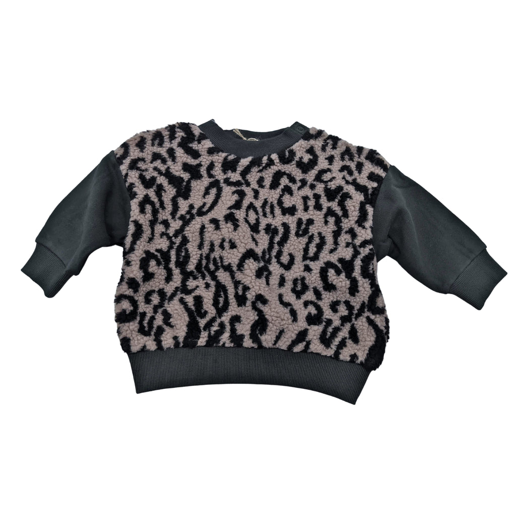 leopard green - sweater