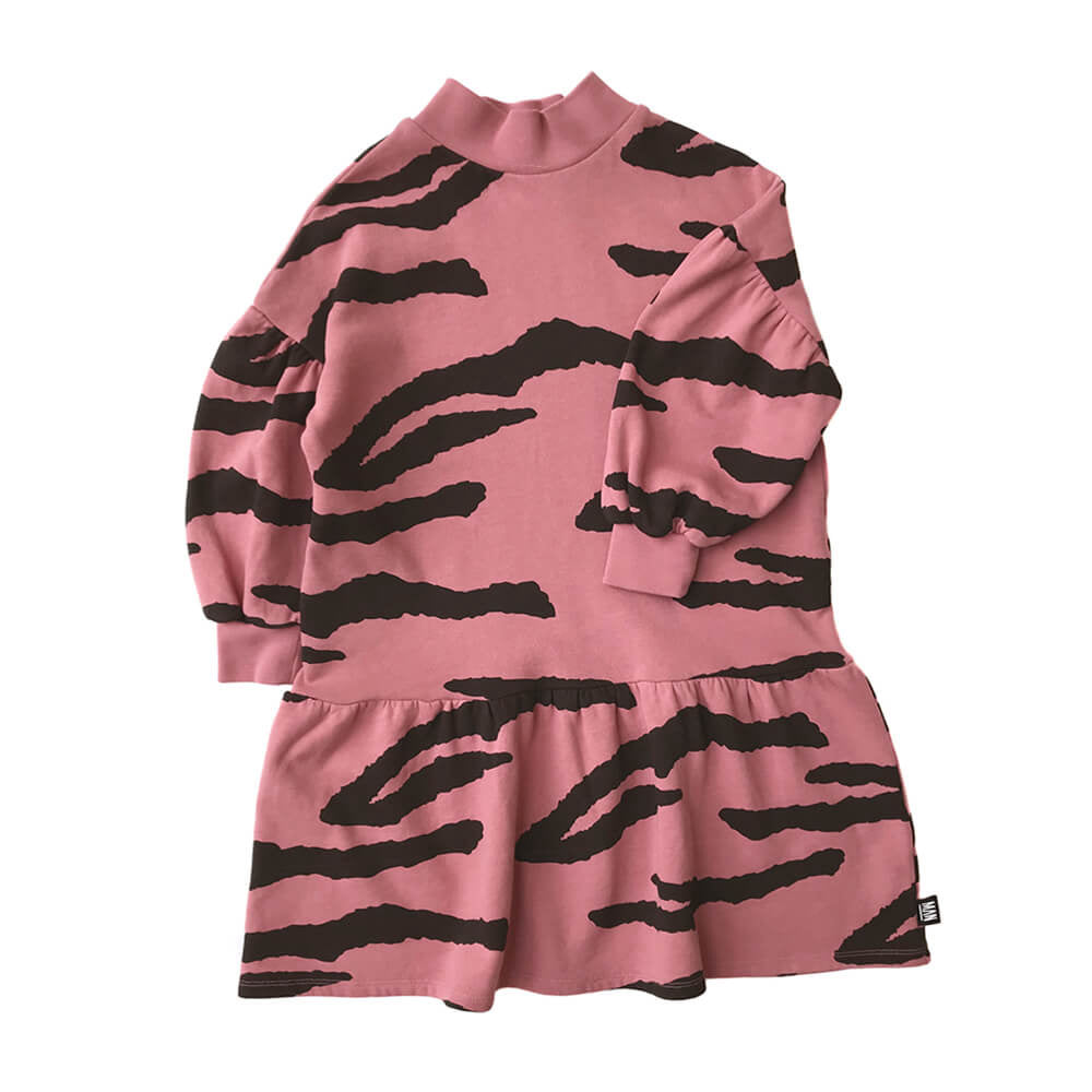 tiger high collar - dress