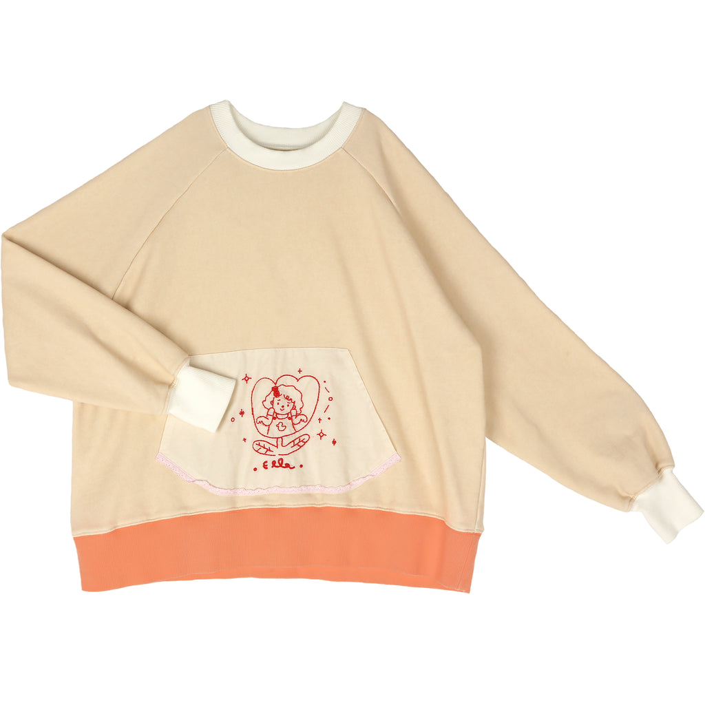 flower beige - sweater