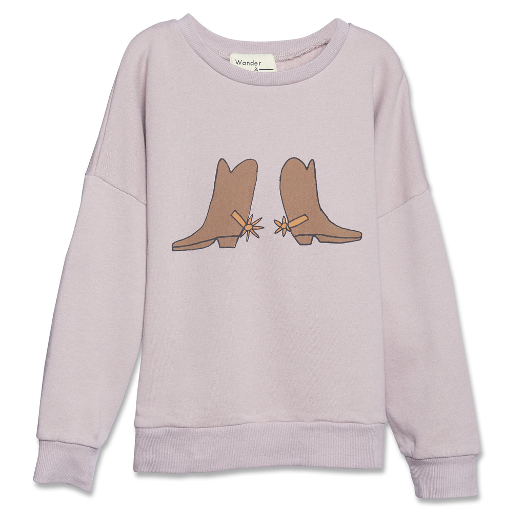 mauve boots - sweater