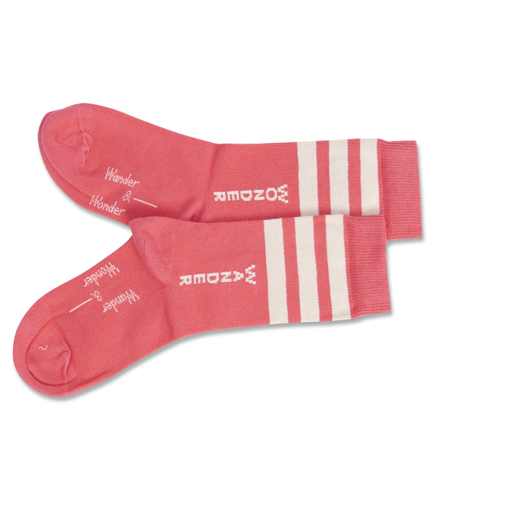 coral stripe - socks