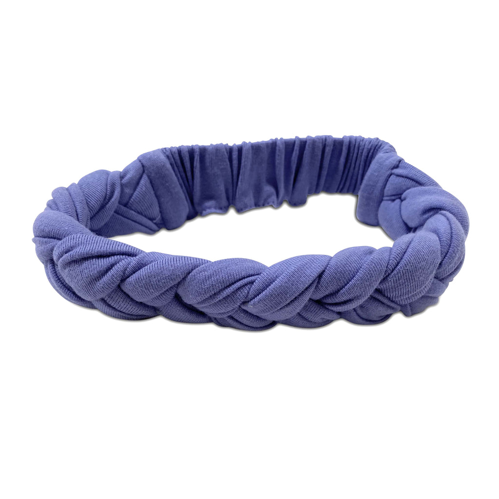 braided periwinkle  - headband