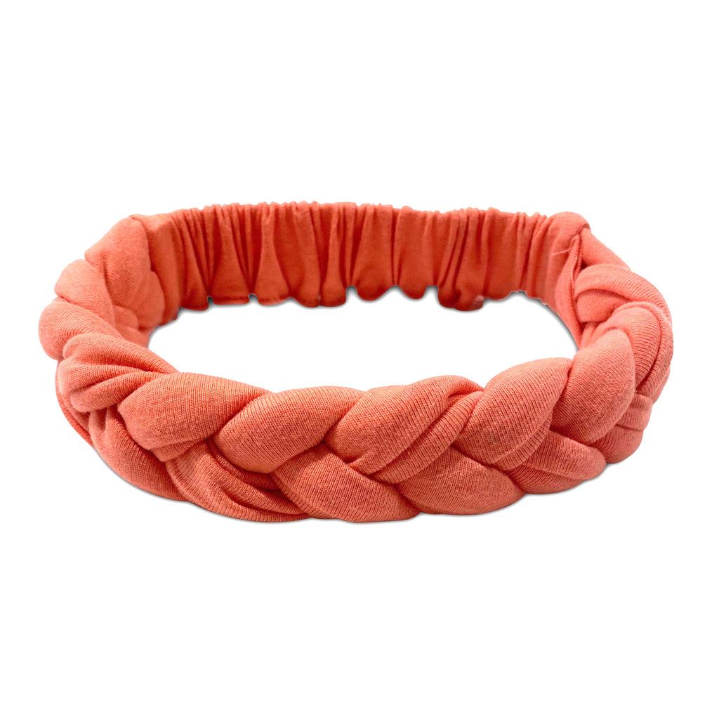 braided persimmon - headband
