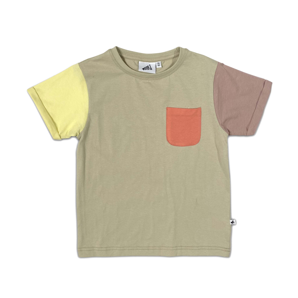 color block alfalfa - t-shirt