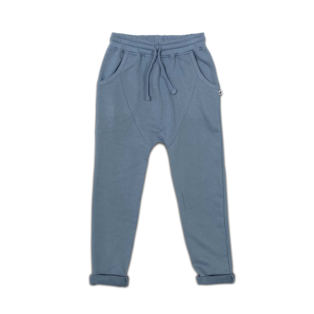 light jogger faded denim - pants