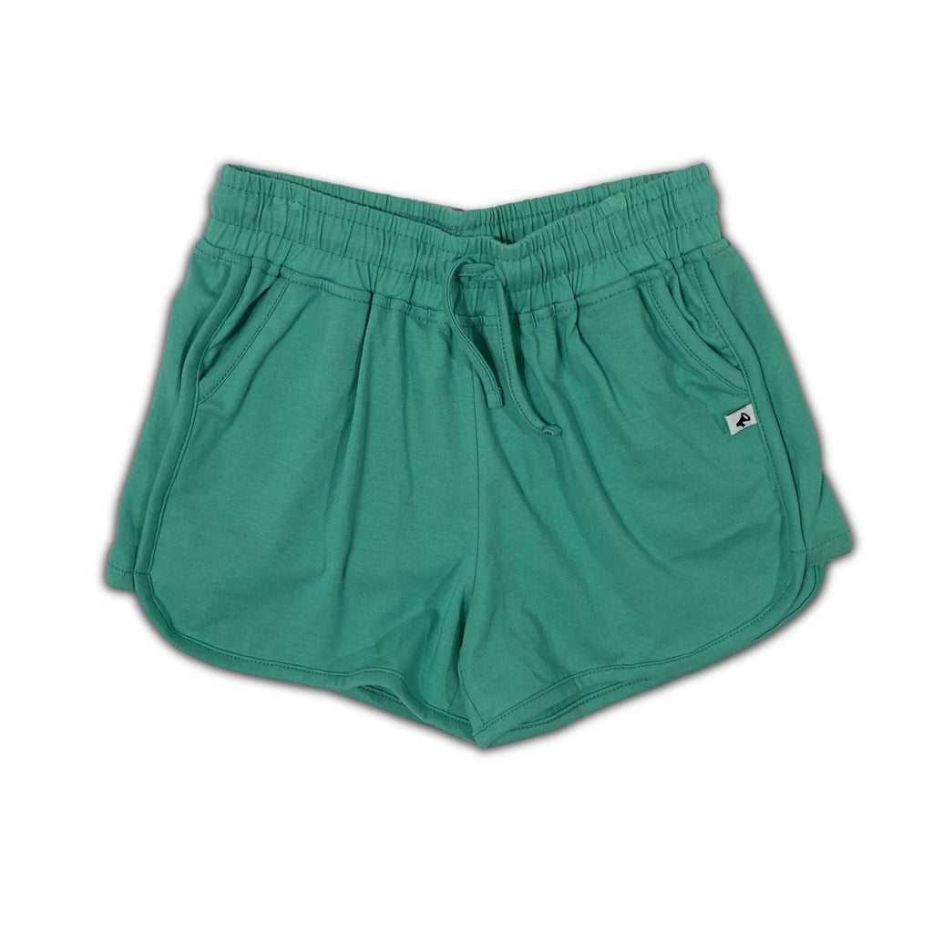 marine green track - shorts