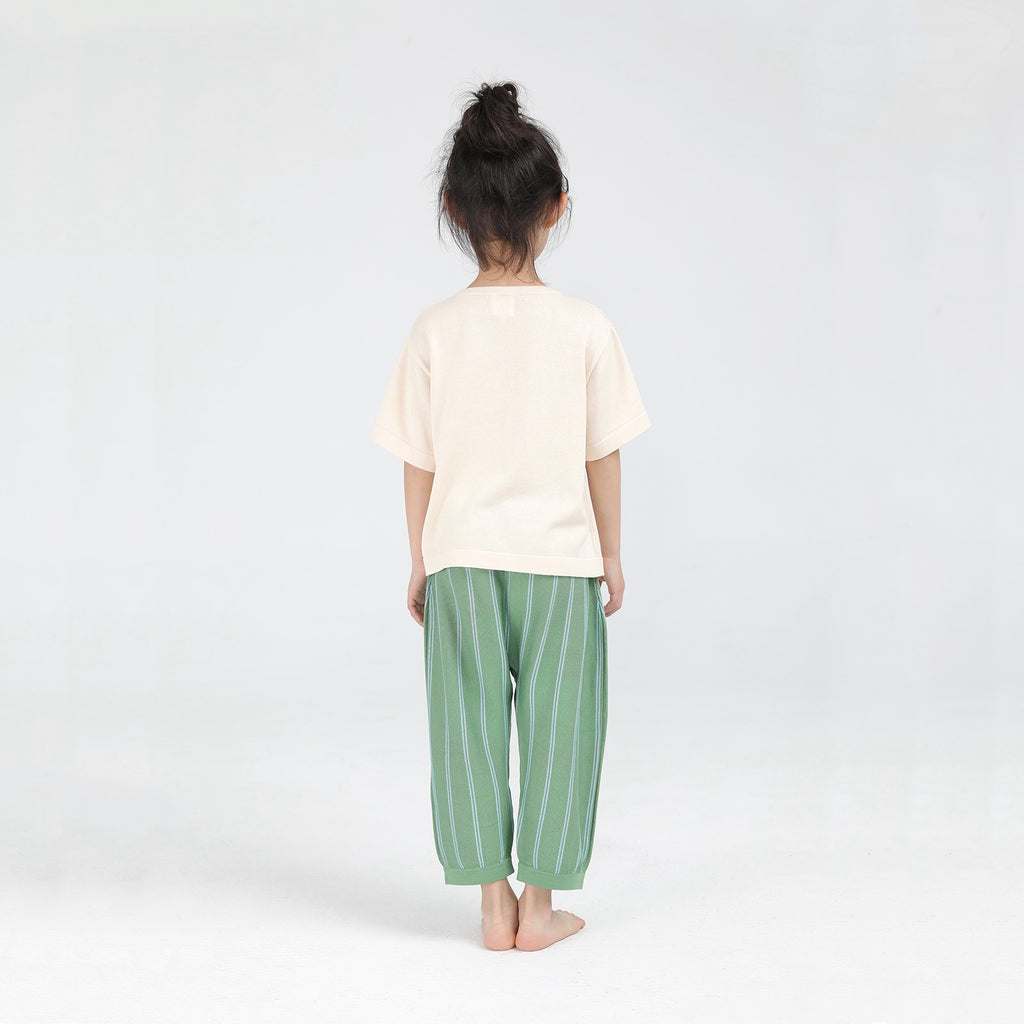 wide leg green - pants