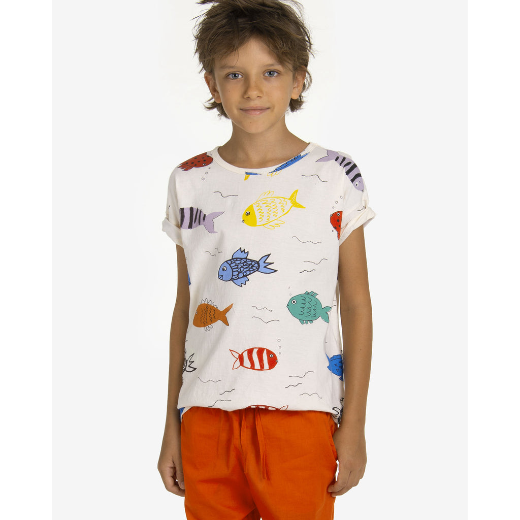 fishes in the river - t-shirt