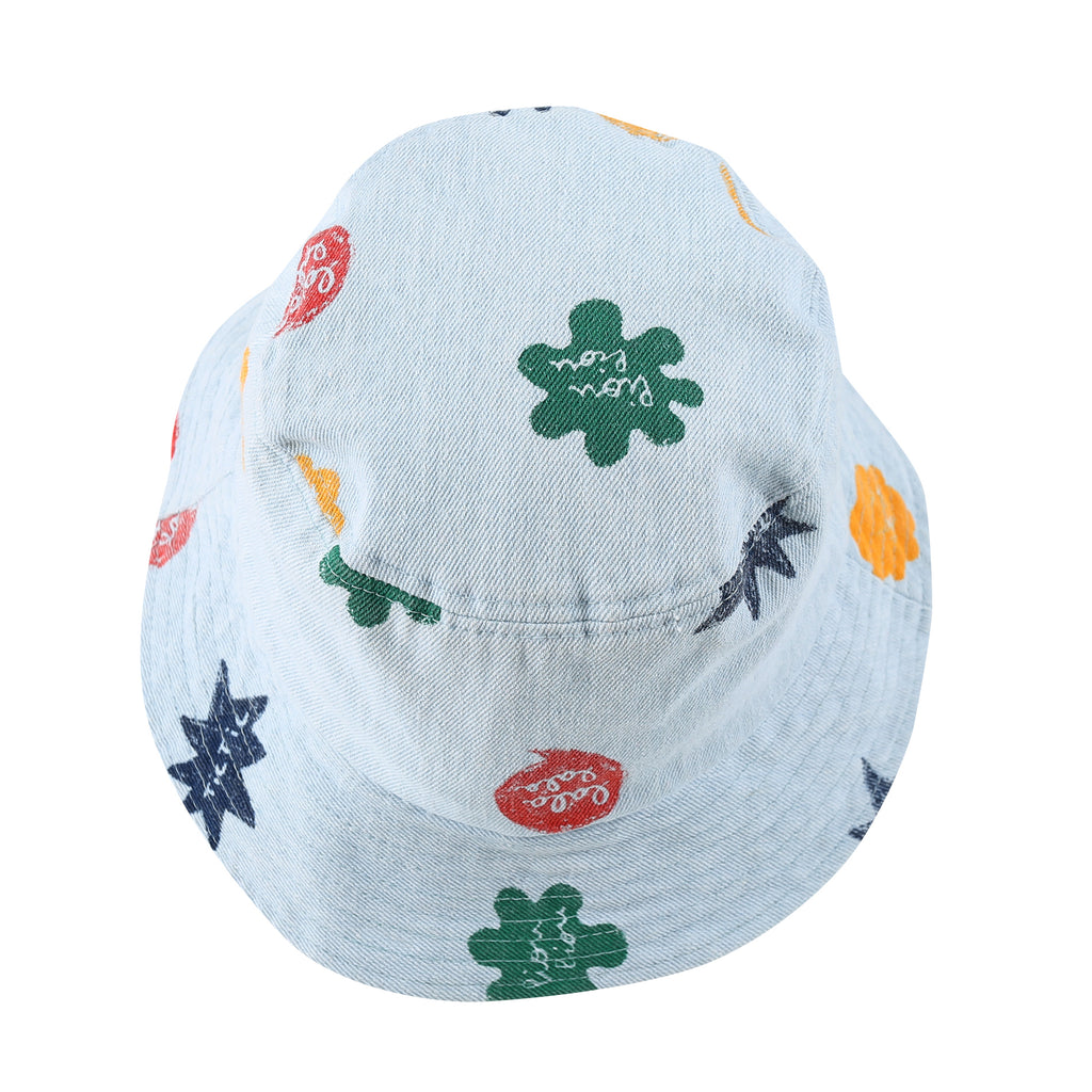 mix denim bucket - hat