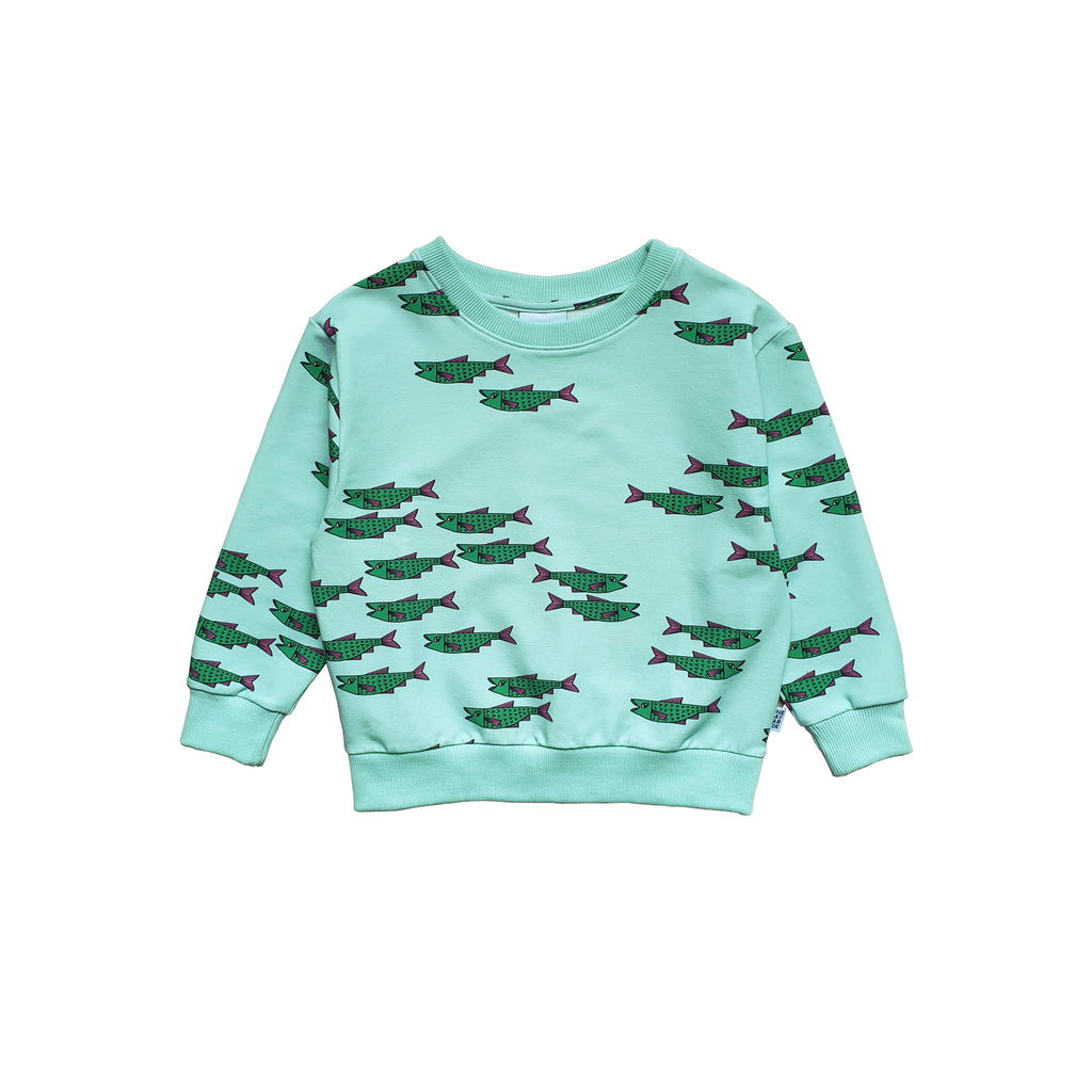 blue fish - sweater