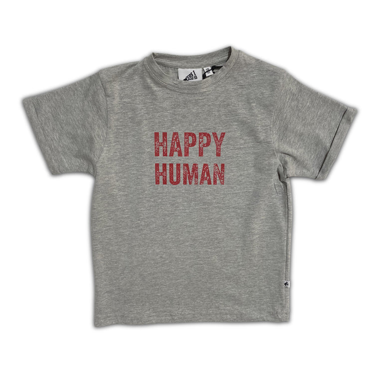 happy human grey - t-shirt