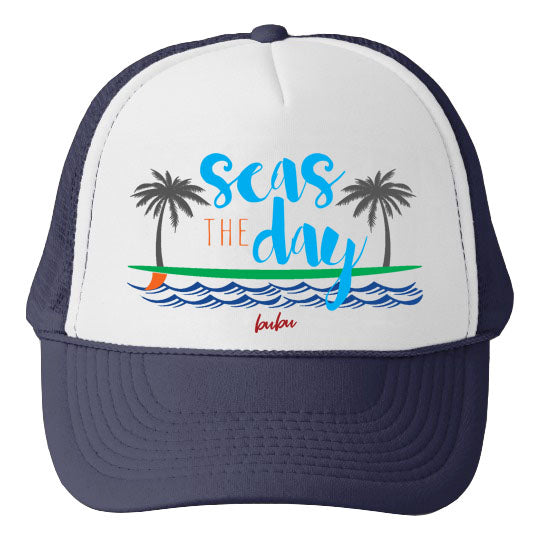 seas the day blue  - hat