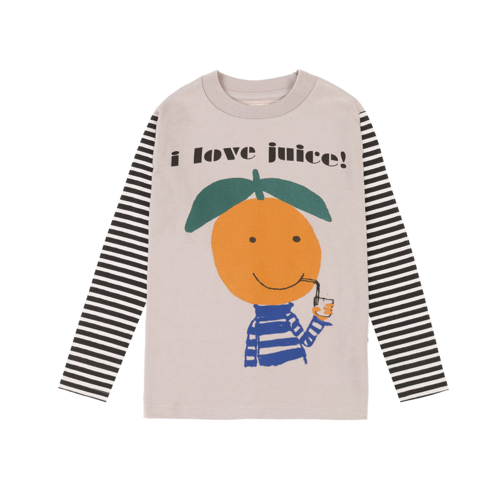 orange ls  - t-shirt