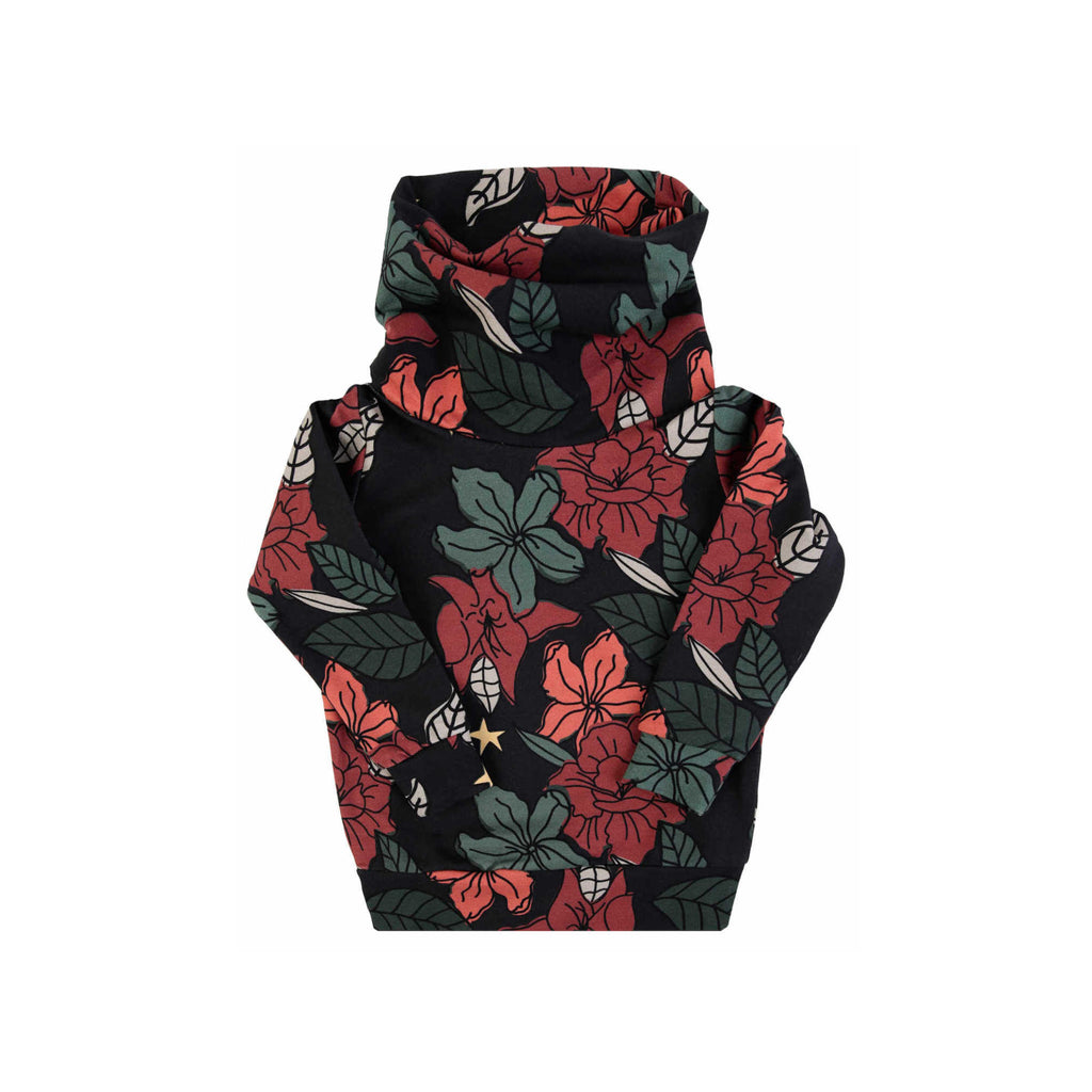 black floral tube  - sweater