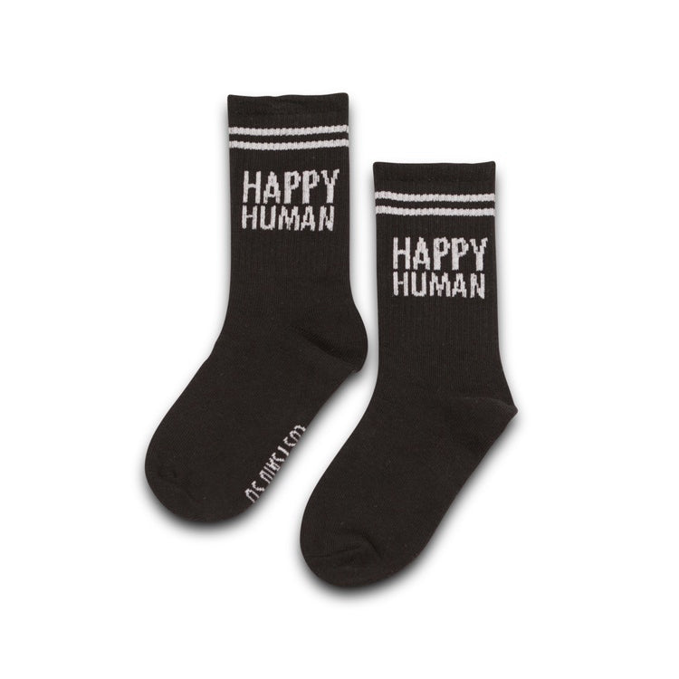 happy human black/white - socks