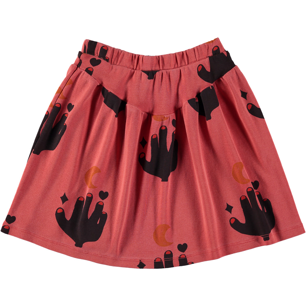 love to the moon print  - skirt