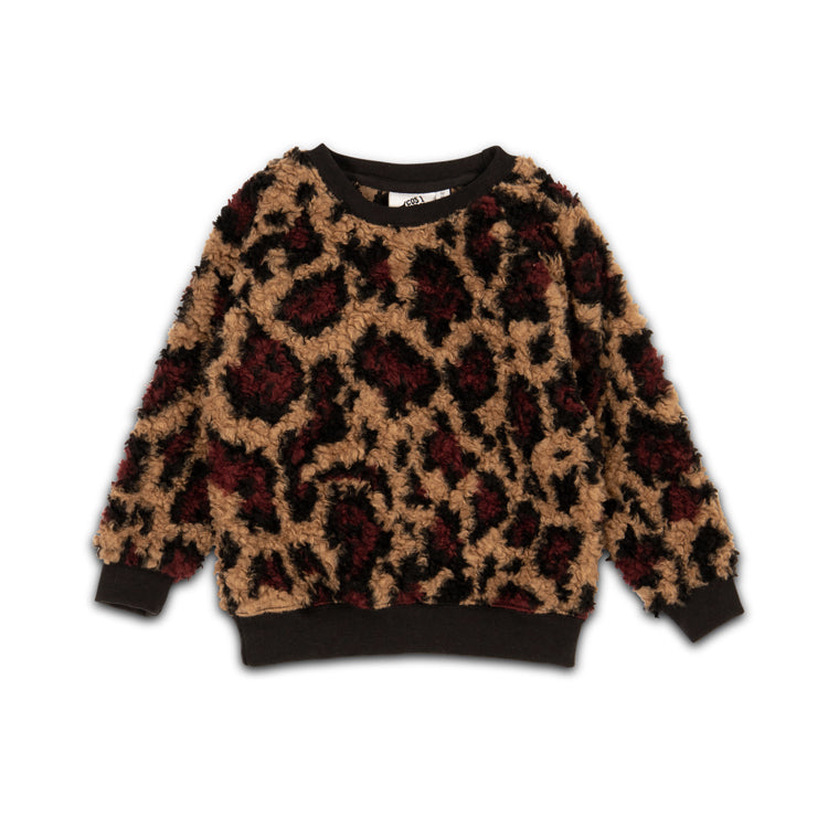 leopard teddy  - sweater