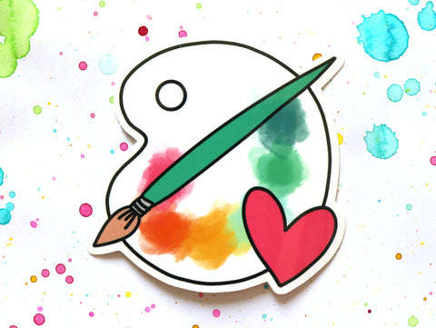 Paint palette Sticker