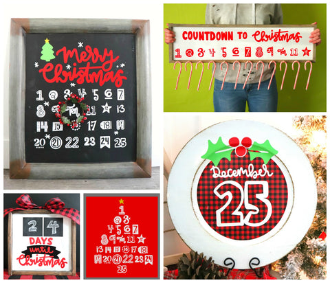 Christmas Advent Cut File Mini Bundle