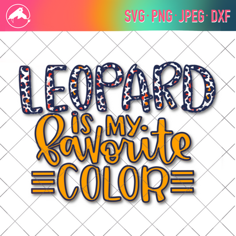 Leopard favorite color cut file