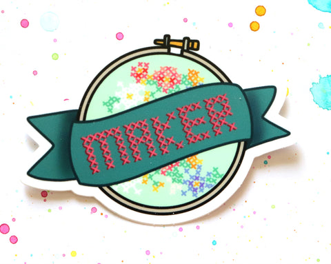 Maker embroidery Sticker