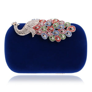 Crown Rhinestones Evening Clutch