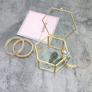 Hexagon Clear Jewelry Box