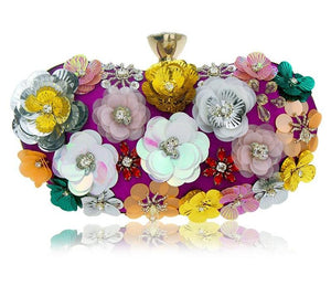 Rhinestones  Flowers Day Clutch