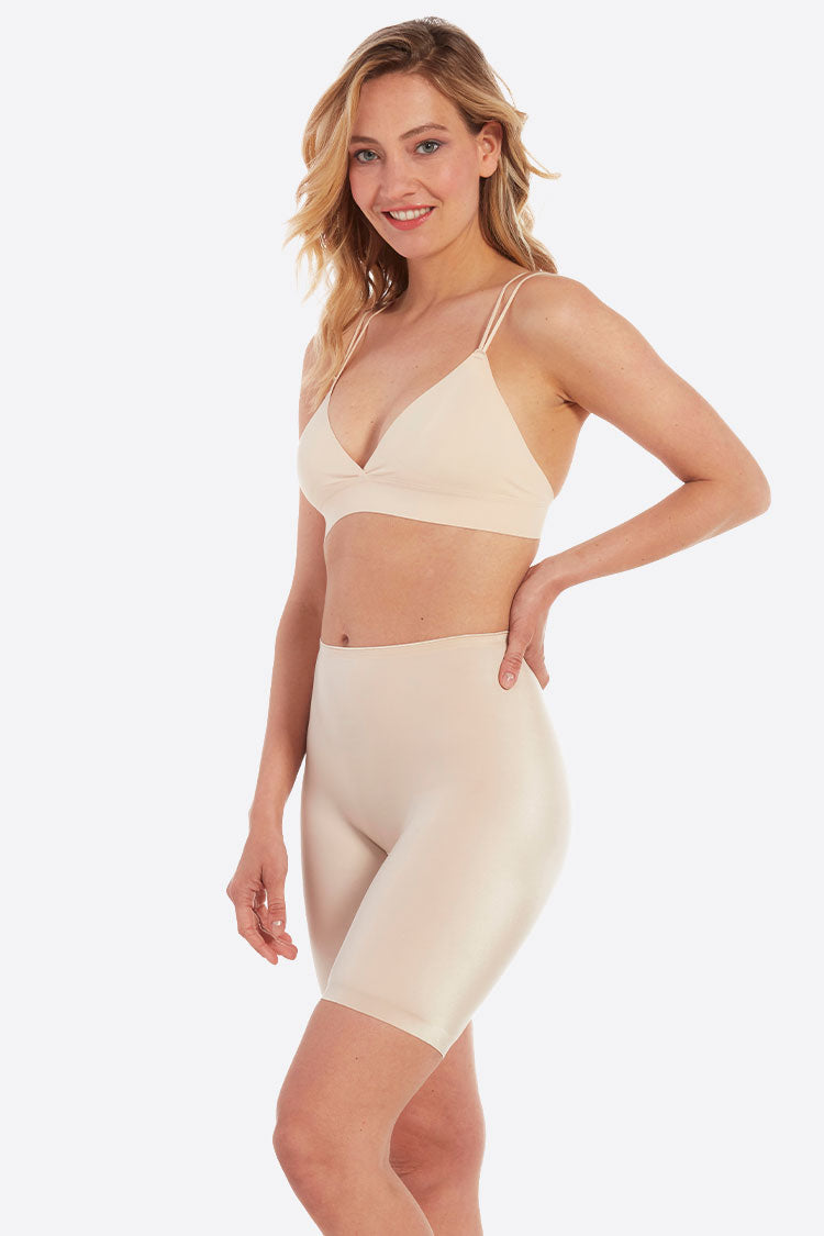 MAGIC Bodyfashion Luxury Bermuda Miederhose Shapewear nude creme curvy