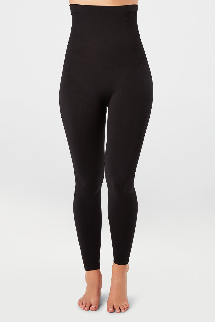 SPANX High-Waisted Seamless Leggings Schwarz Vorne