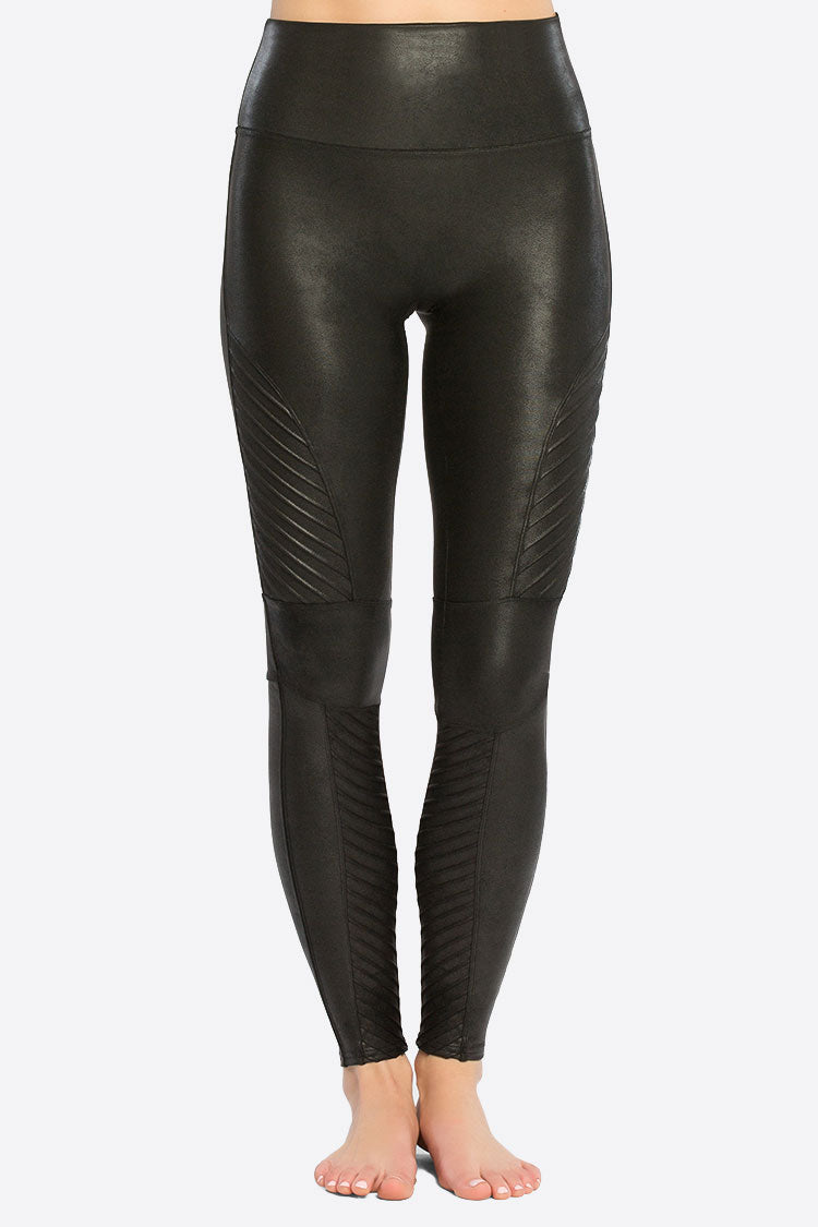 SPANX Faux Leather Moto Leggings Shapewear