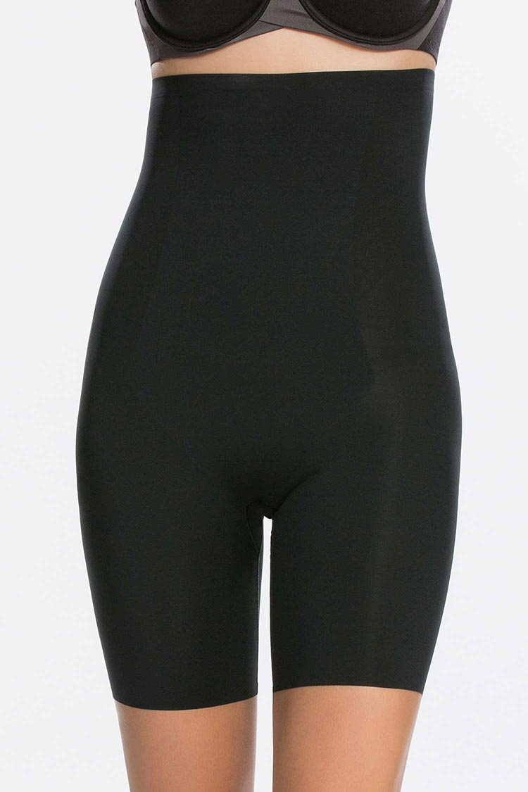 SPANX Thinstincts High Waist Short Schwarz Vorne