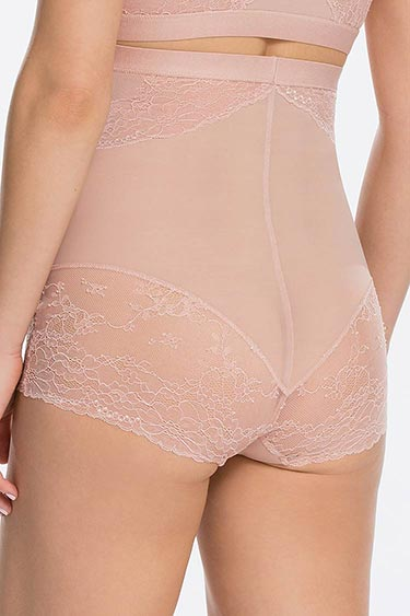 SPANX Spotlight on Lace High Waist Brief Rose Hinten