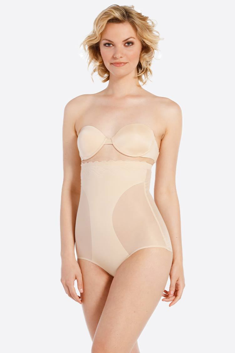 MAGIC Bodyfashion Scallop Sheer High Brief Shapewear High Waist