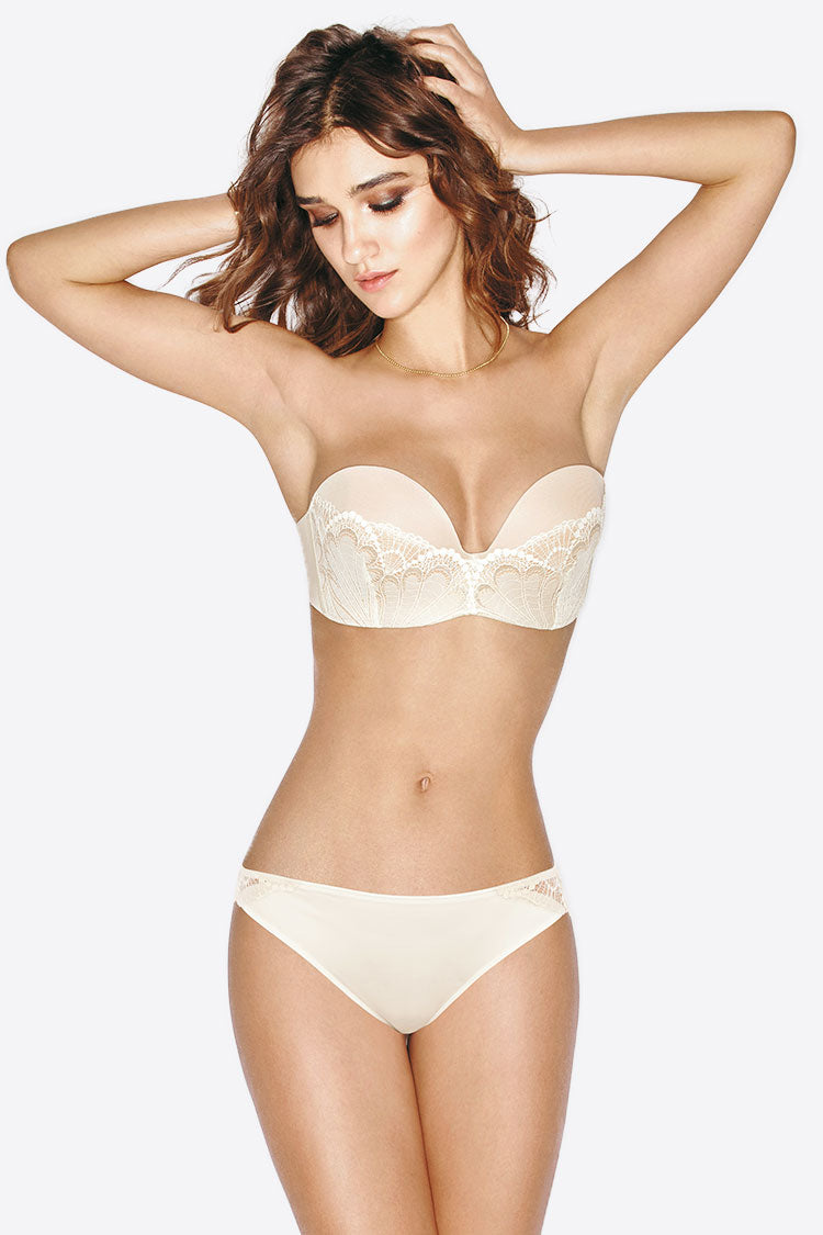 Wonderbra-Refined Glamour Ultimate Strapless BH Shapewear Push up nude