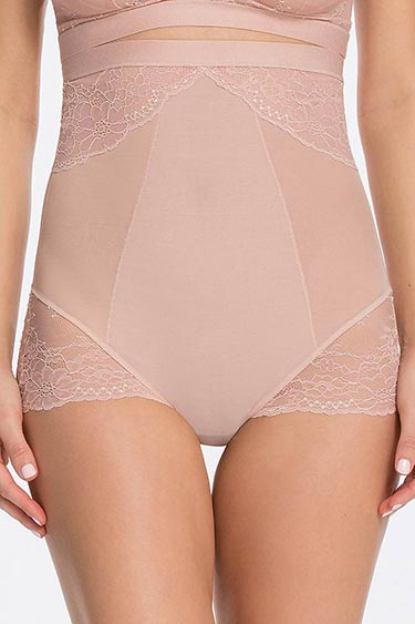 SPANX Spotlight on Lace High Waist Brief Rose Vorne