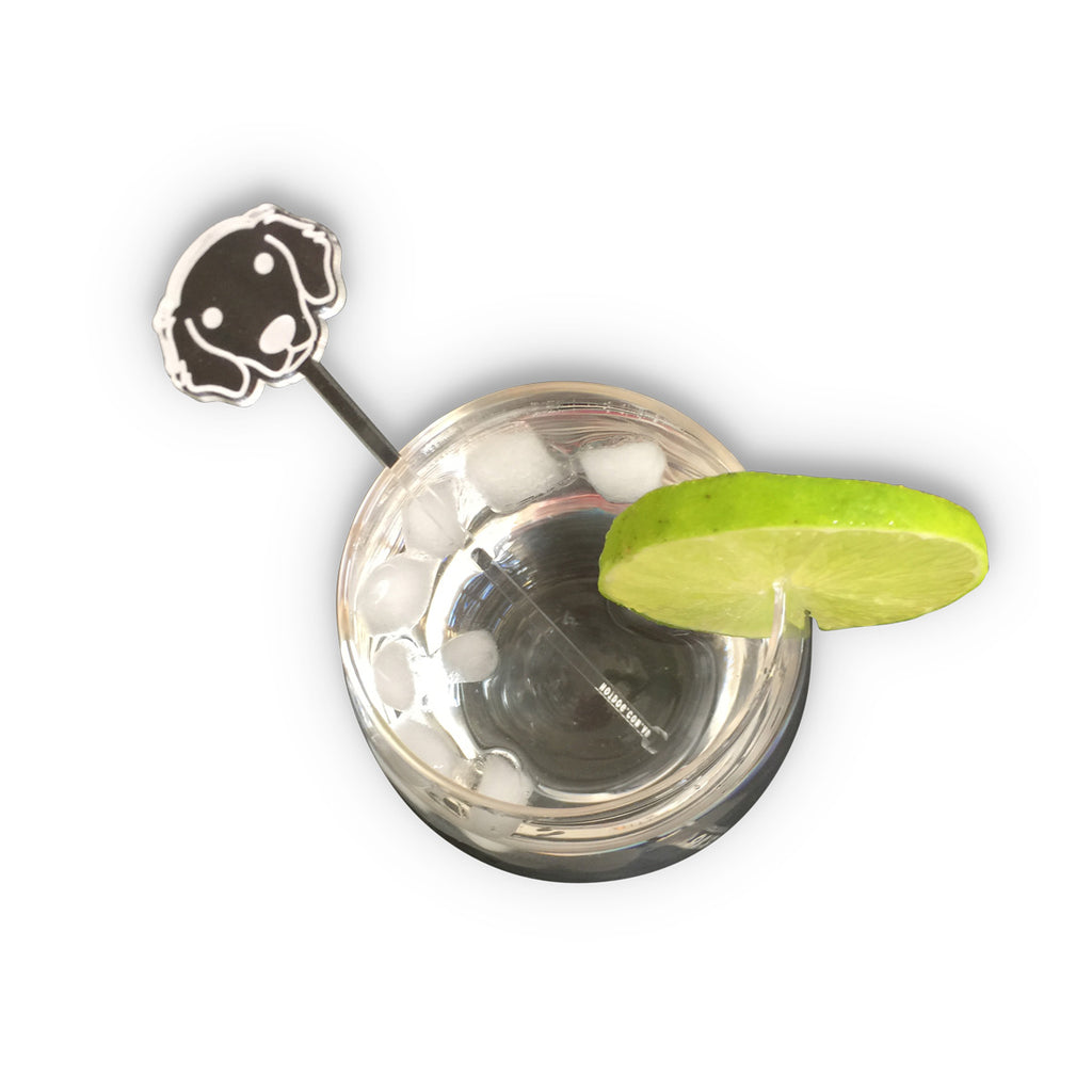 hotdog.com.au | Golden Retriever Clear Drink Stirrers
