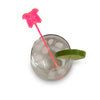 Border Collie Drink Stirrer - Fluro Pink (Set of 6)