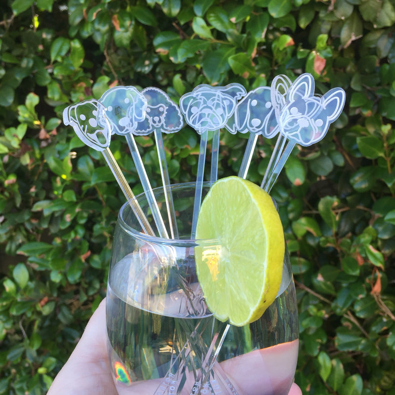 hotdog.com.au | Clear Drink Stirrers