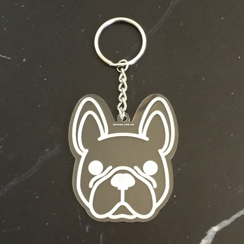 hotdog.com.au | French Bulldog Clear Keyring