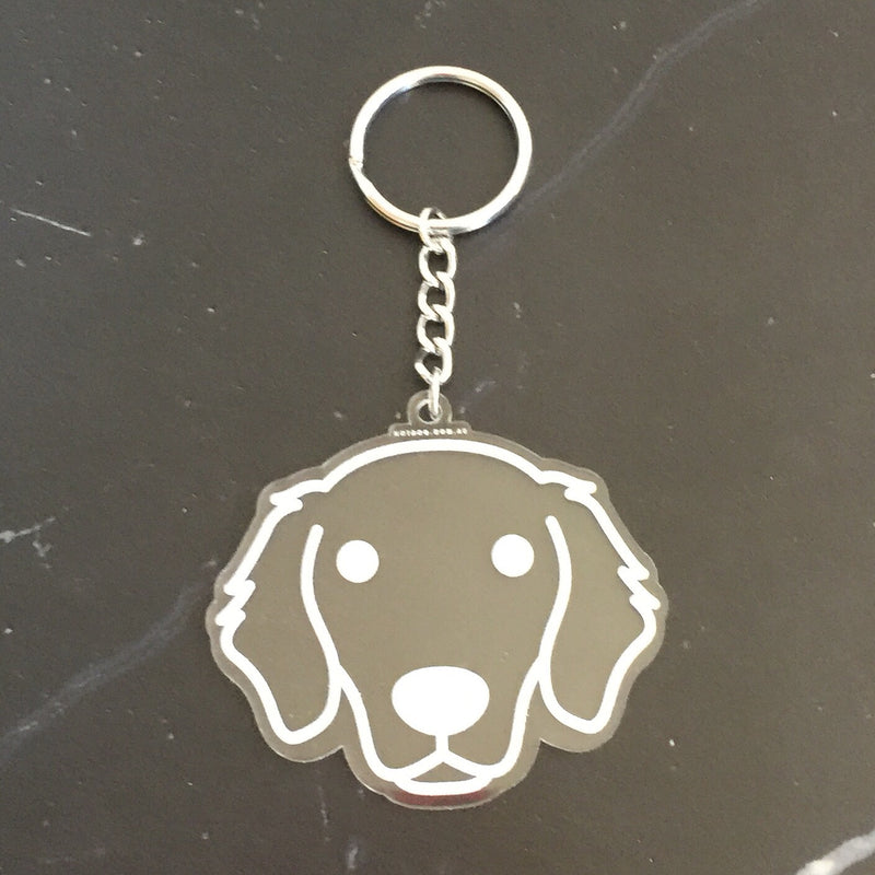 hotdog.com.au | Golden Retriever Clear Keyring