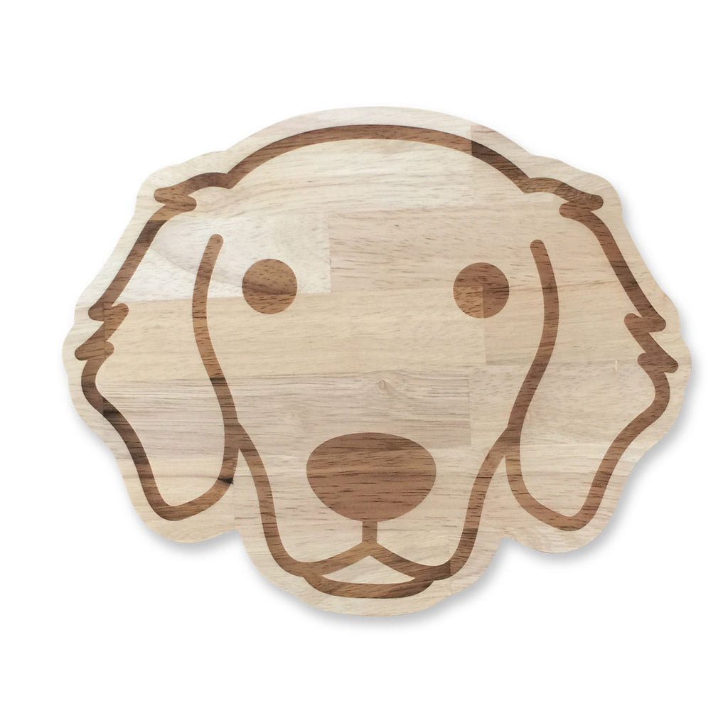 hotdog.com.au | Golden Retriever Serving/Cutting Board